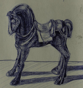 toy horse sketch