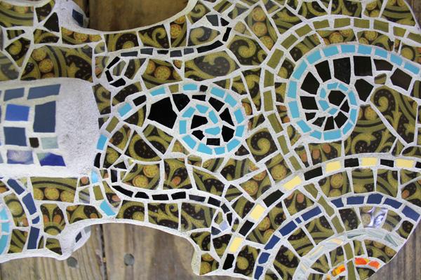 detail, Mosaic Violin
