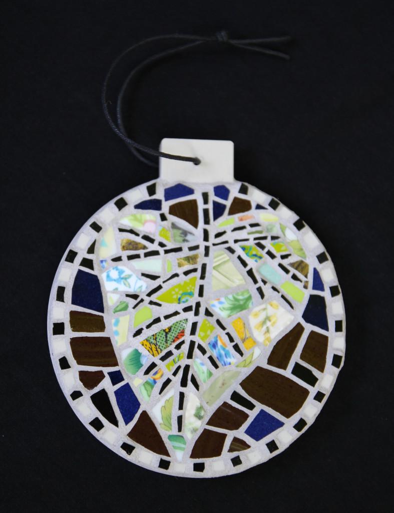Mosaic Leaf Ornament