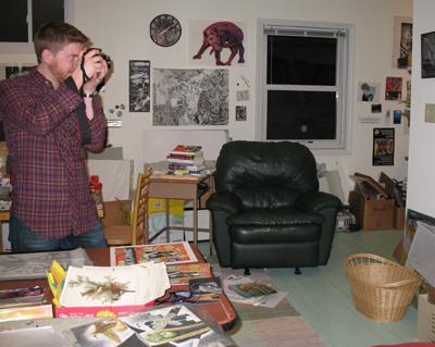 Dave Gnojek in Lora's Studio