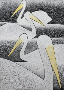 Pelicans on Clinton Lake (sold)