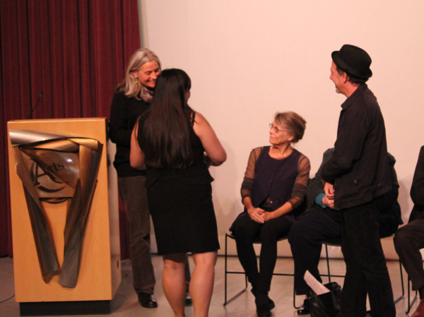 Lora Jost receiving Phoenix Award