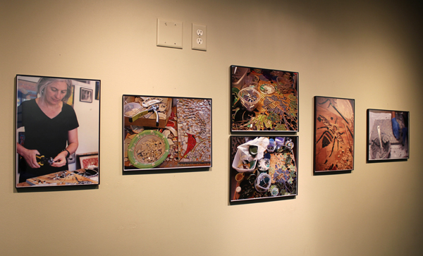 Mosaic process photo display
