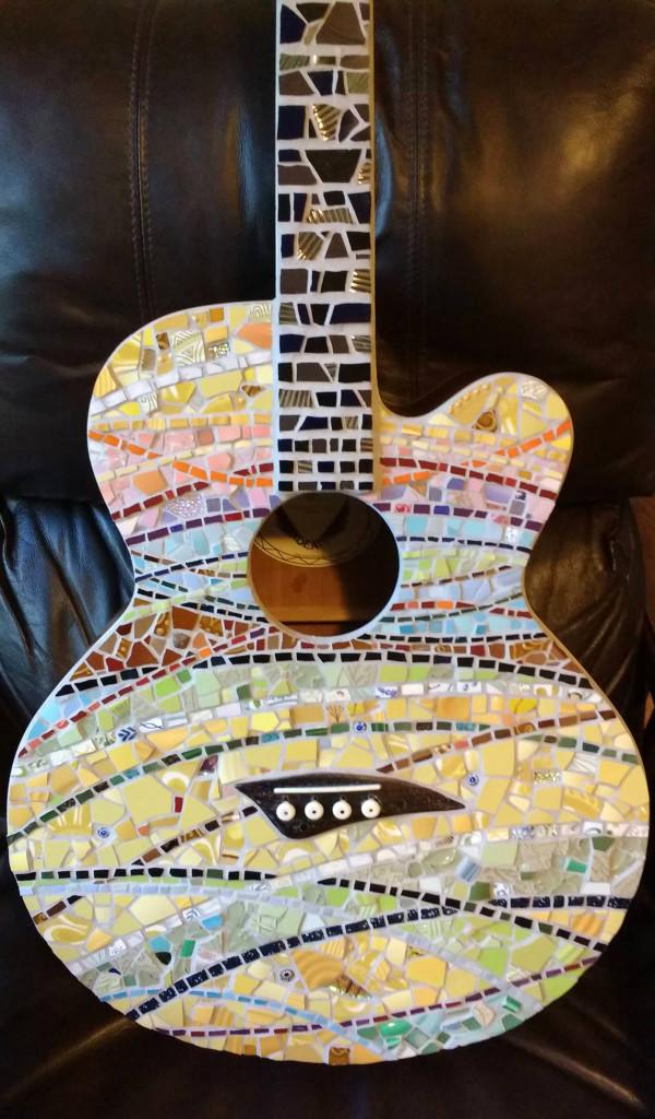 Bass Guitar Mosaic